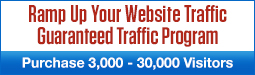 Ramp Up Your Website Traffic - Purchase 3,000 – 30,000 visitors per quarter